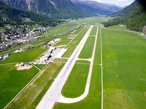 St Moritz Samedan airport