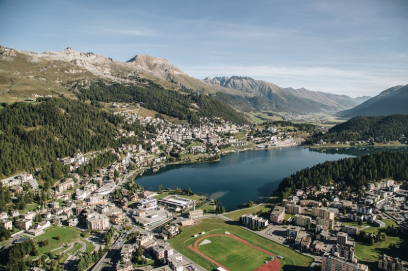 private jet to St Moritz
